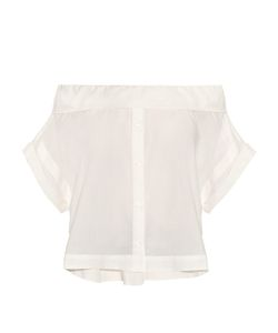Sea | Off-The-Shoulder Cotton-Poplin Top