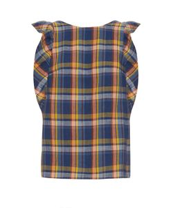 Mih Jeans | Caval Checked Frill-Sleeve Top