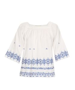 Vanessa Bruno | Dalma Square-Neck Embroidered Top