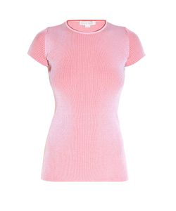 Stella Mccartney | Short-Sleeved Ribbed-Knit Top