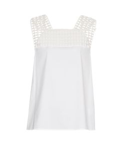 A.L.C. | Evans Crochet-Trimmed Stretch-Cotton Top