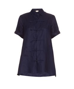 YOHJI YAMAMOTO REGULATION | Short-Sleeved Linen Top