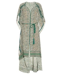 TALITHA | Decorative Print Silk-Crepe Kaftan
