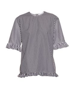 J.W. Anderson | Gingham Ruffled Cotton Top