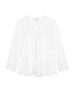 Rebecca Taylor | Long-Sleeved Cotton-Voile Top