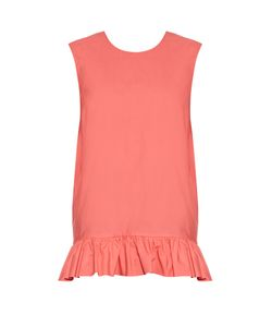 Marni | Ruffled-Hem Cotton Top