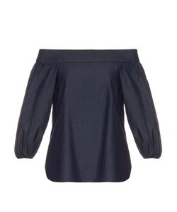 Tibi | Off-The-Shoulder Cotton-Denim Top