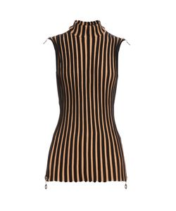 Edun | Sleeveless Wide-Ribbed Wool-Blend Tunic Top