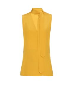Edun | Tie-Neck Silk-Cady Top