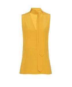 Edun | Tie-Neck Silk-Cady Top