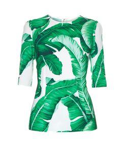 Dolce & Gabbana | Banana Leaf-Print Top