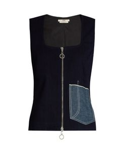 Edun | Patch-Pocket Sleeveless Denim Top