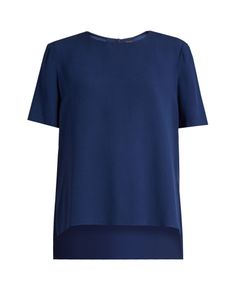 Adam Lippes | Short-Sleeved Satin-Crepe Top