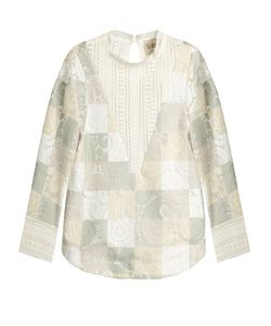Sea | Lace Cut-Out Patchwork Top