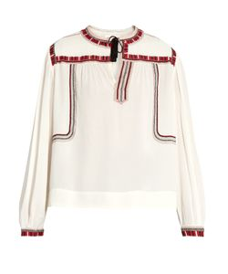 Isabel Marant Étoile | Cabella Embroidered Peasant Blouse
