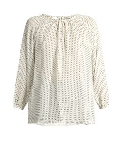 Tibi | Star-Print Silk Top