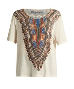 Raquel Allegra | Tribal-Print Cotton T-Shirt