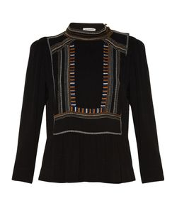 Isabel Marant Étoile | Cerza Embroidered Crepe Top