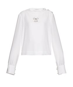 J.W. Anderson | Bow-Embellished Crepe Top