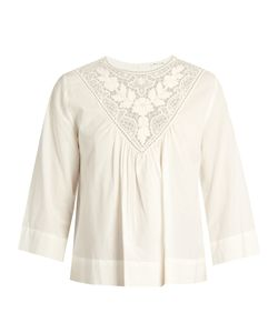 Masscob | Lace-Trimmed Cotton Top