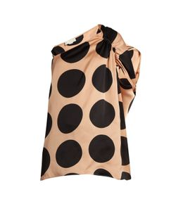 Stella Mccartney | Asymmetric Polka-Dot Print Silk Top