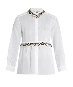Jupe By Jackie | Freret Embroidered Cotton-Organdie Shirt