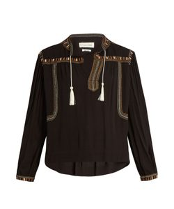 Isabel Marant Étoile | Cabella Embroidered Crepe Top