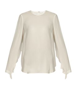 A.L.C. | Sally Open-Back Silk-Crepe Top