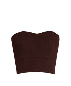 RAEY | Cropped Crepe Corset Top