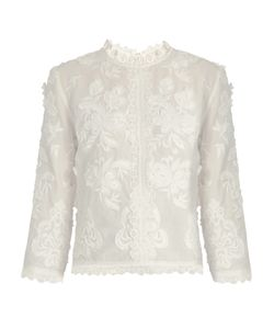 Vanessa Bruno | Fabago Embroidered Cotton-Voile Top