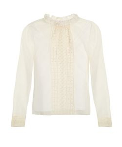 See By Chloe | Ruffled-Collar Mesh Blouse