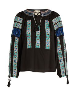 Sea | Folk-Embroidered Cotton Blouse