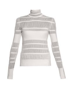 Alexander McQueen | Striped-Knit High-Neck Sweater