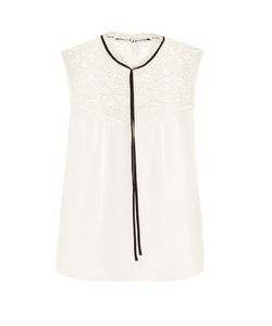 Erdem | Julisa Sleeveless Silk-Cady Blouse