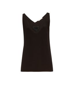Christopher Kane | Love Heart-Motif Silk-Blend Top