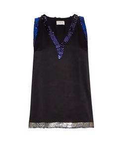 Lanvin | Sequin-Embellished Satin Top