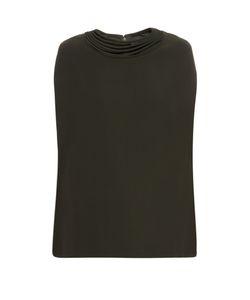 Valentino | -Strap Neckline Silk-Cady Top