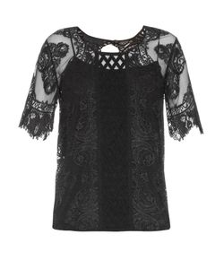 Burberry Prorsum | Round-Neck Contrast-Lace Top