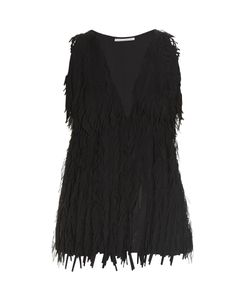 Marco De Vincenzo | Laser-Cut Fringed Georgette Top