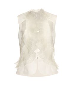 Oscar de la Renta | Ruffled And Pleated Silk-Faille Top
