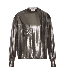 Isabel Marant Étoile | Melva Long-Sleeved Lamé Shirt