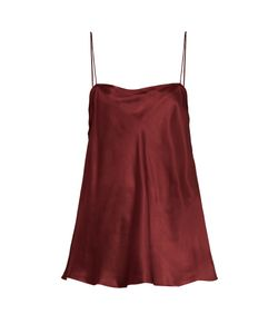 Ellery | Leni Ruched-Side Silk-Satin Cami Top