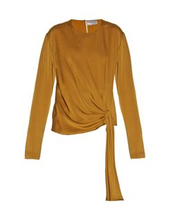 Lanvin | Draped-Front Satin-Crepe Blouse
