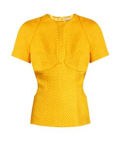 Emilia Wickstead | Daisy Cut-Out Chevron-Matelassé Top