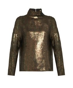 Tibi | Sequin-Embellished Roll-Neck Top