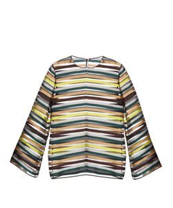 Emilia Wickstead | Brigitta Striped Organza Top