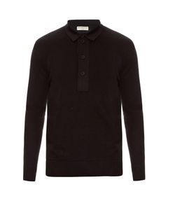 Balenciaga | Layered Cotton-Knit Polo Shirt