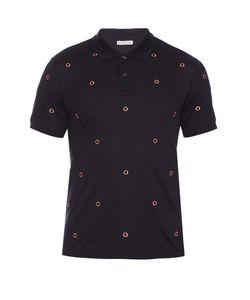 Moncler | Logo-Embroidered Cotton-Piqué Polo Shirt