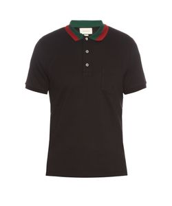 Gucci | Contrast-Collar Cotton-Blend Piqué Polo Shirt