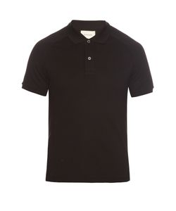 Gucci | Hummingbird-Appliqué Cotton Polo Shirt